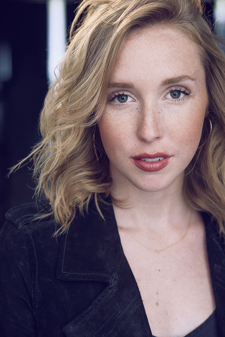 Theatrical headshot of Holly Hubbell by Brad Buckman.
