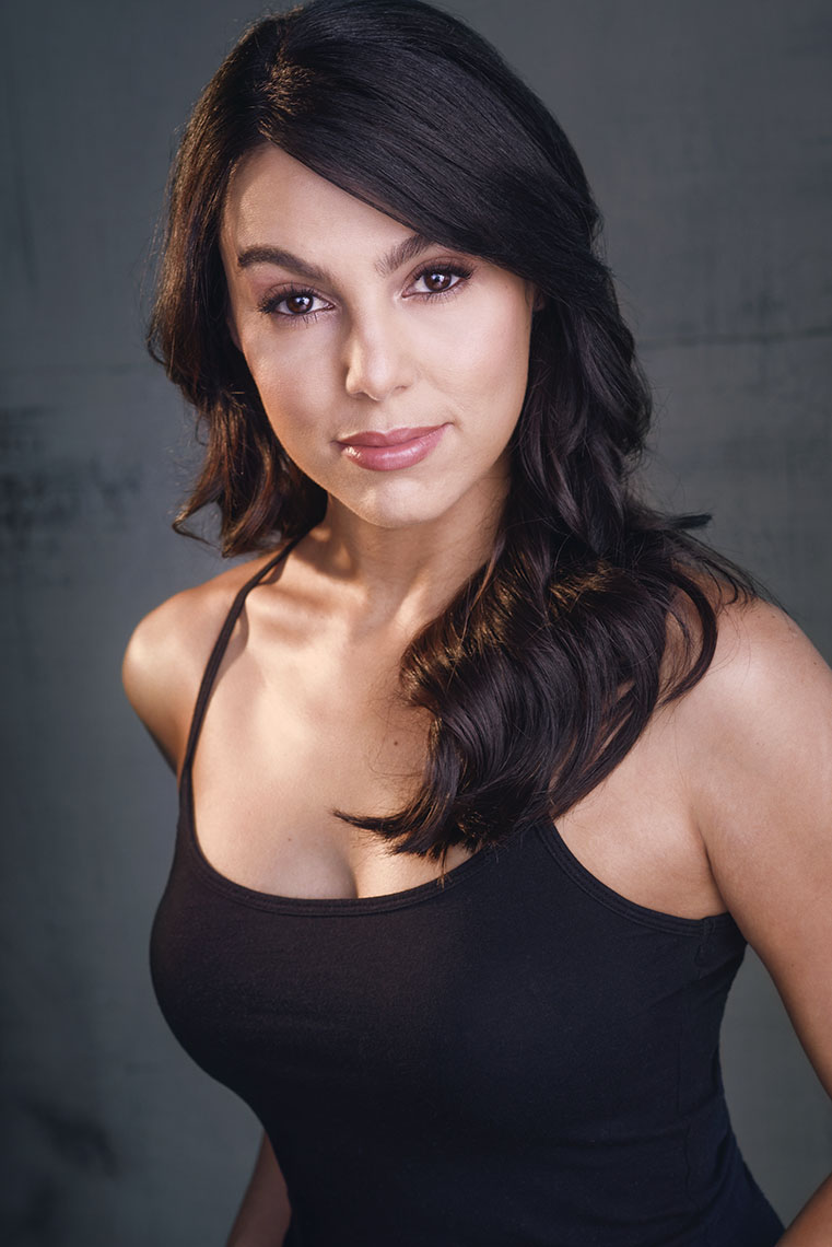 Actor Rebecca Galarza uses her theatrical headshot for various film auditions.